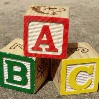 ABCの積み木