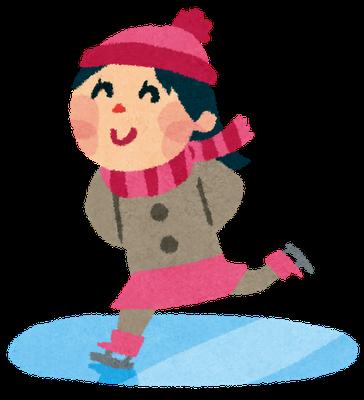 スケートする女子