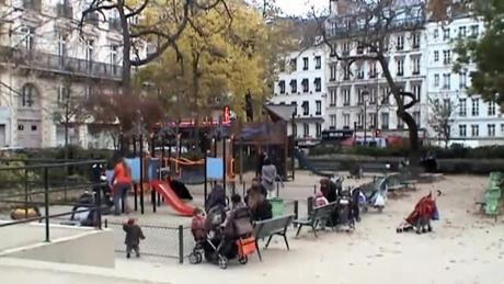 パリのモントロン公園