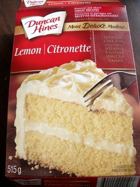レモンケーキミックスの箱