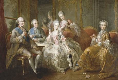 La famille du duc de Penthièvre