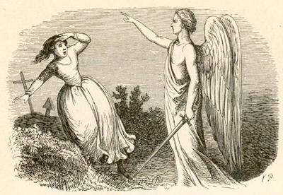 赤いくつ 剣を持った天使