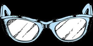 フォックス型メガネ