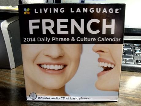 フランス語学習用カレンダー 外箱