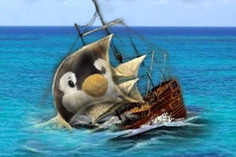 沈むヨット