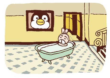 お風呂に入るmasausaさん