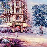 ドームカフェの絵(19世紀)
