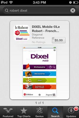 le robert Dixel mobile