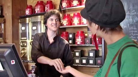 コーヒー豆店@ムフタール通り