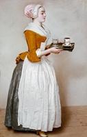 チョコレートを運ぶ少女