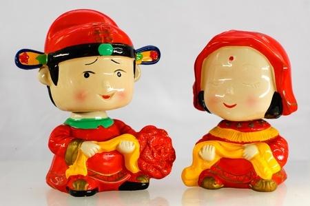 中国の結婚式のお人形