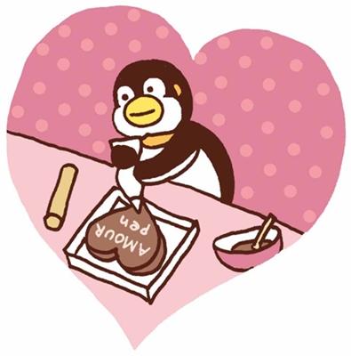 バレンタインデーのケーキ作り