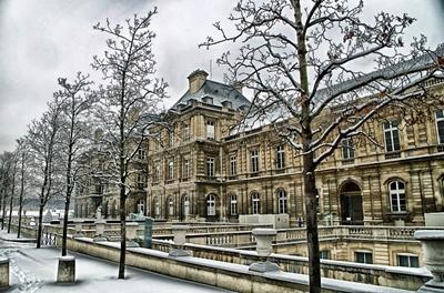 冬のリュクサンブール宮殿