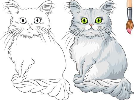 ネコのぬり絵