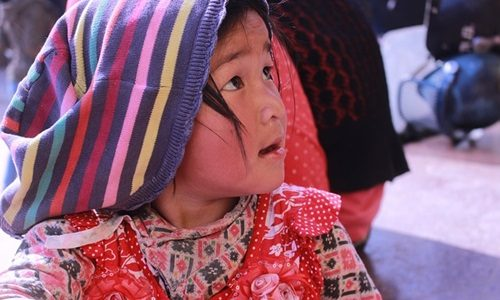 ネパールの女の子