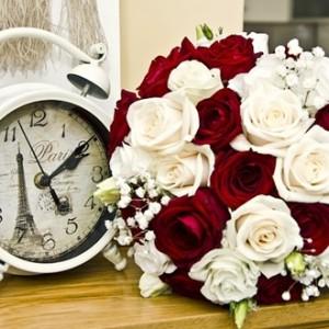 時計と花束