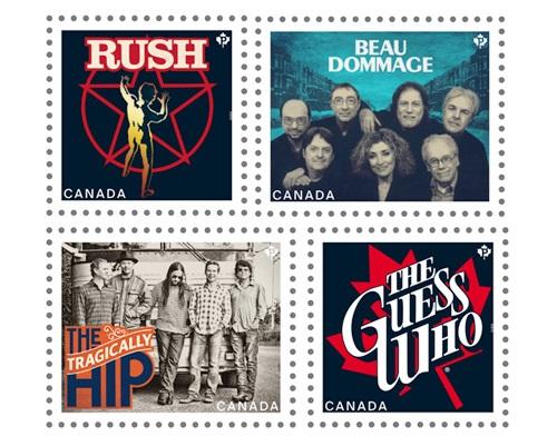 カナダのバンドの記念切手