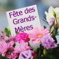 祖母の日のカードと花