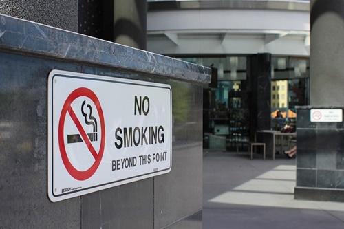 禁煙のサイン