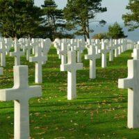 オマハビーチ(ノルマンディ)にある墓